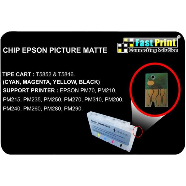 chip epson photo matte pm70, pm210, pm215, pm235, pm250, pm270, pm310, pm200, pm240, pm260, pm280, pm290 ( chip pisah)