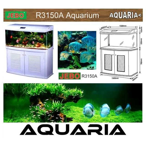 akuarium jebo r3150a complete aquarium system with stand