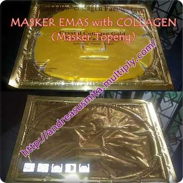 masker emas topeng with collagen