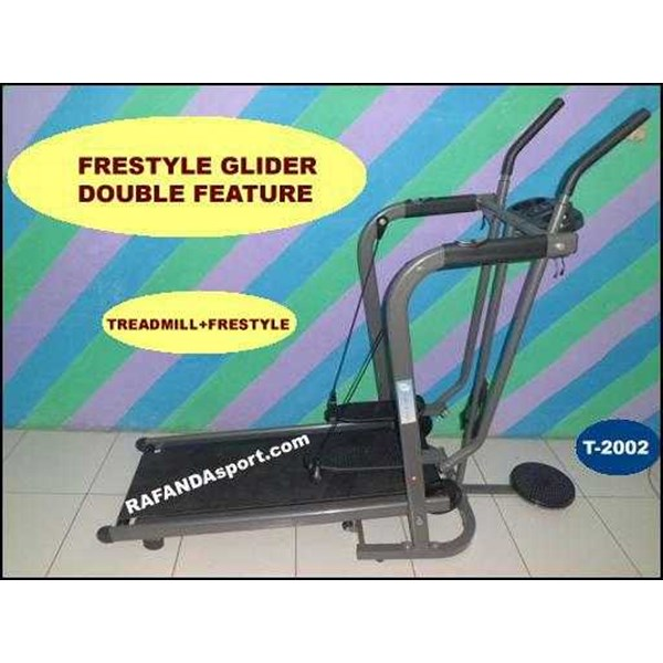 alat fitness-freestyle glider double feature