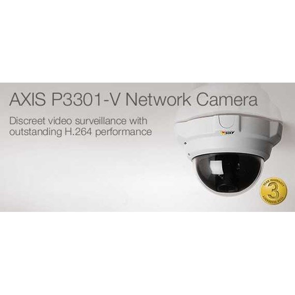 axis p3301 camera-ip indoor fixed dome