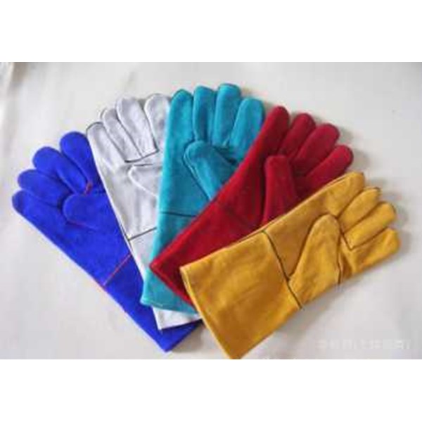 jual leather welding gloves 14 inch kualitas no 1-1