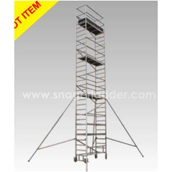 tangga snager single aluminium scaffolding tower snager 12s