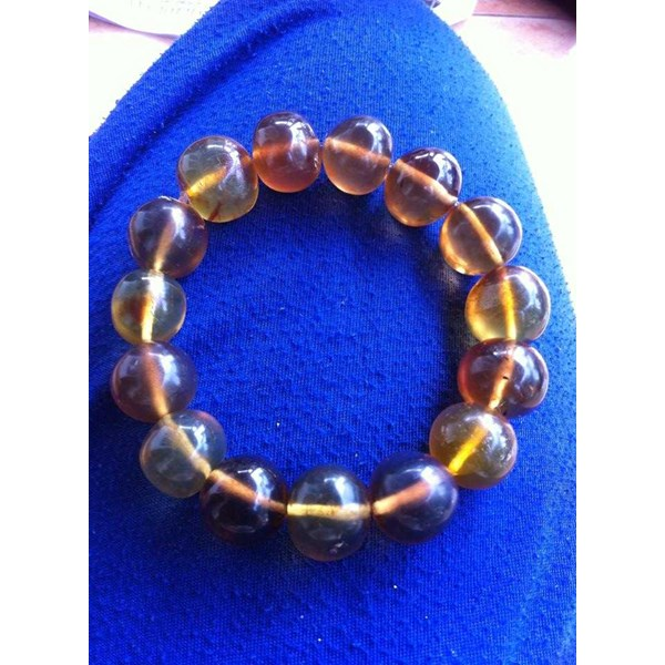 healing bracelet and necklace blue amber-5