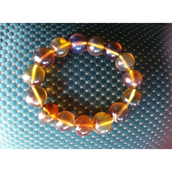 healing bracelet and necklace blue amber-1