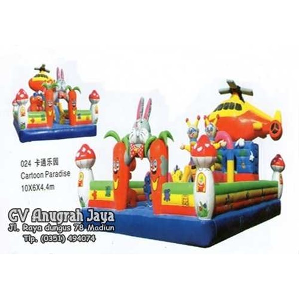 istana balon cartoon paradise 6x10