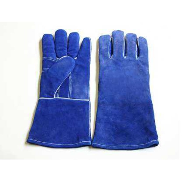 welding gloves 14 inch blue kw-1-1