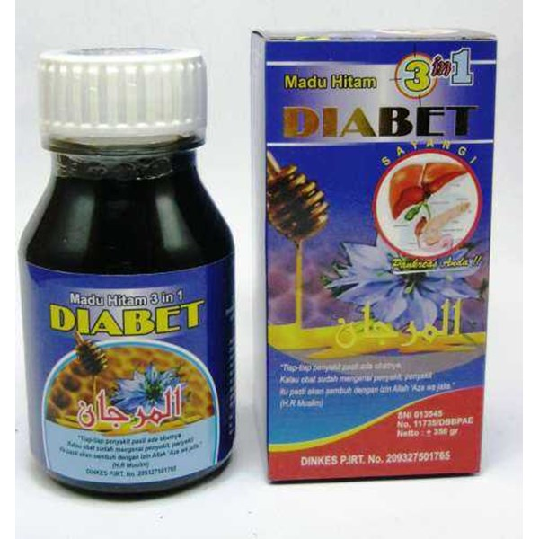 madu hitam diabetes 3 in 1
