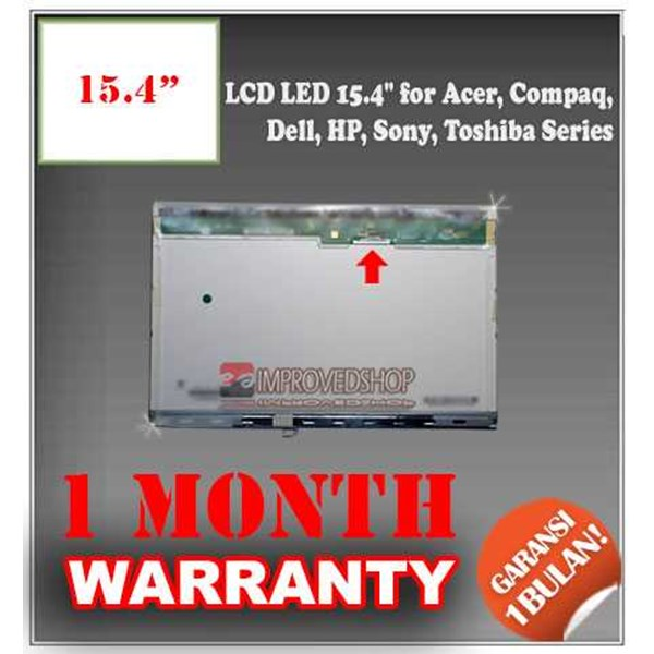 lcd panel screen notebook/ netbook/ laptop 15.4 for acer, compaq, dell, hp, sony, toshiba series original/ asli
