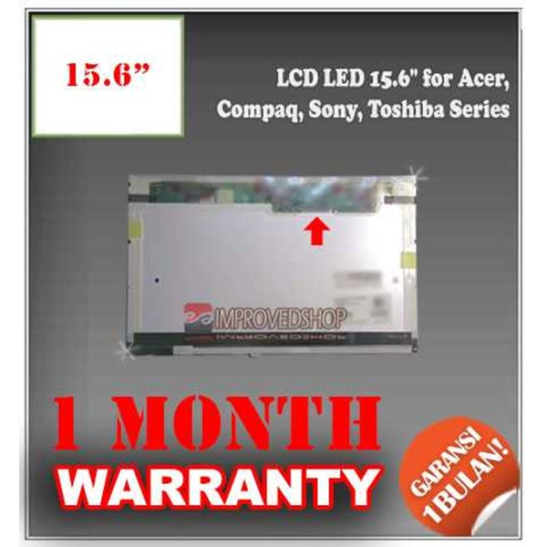 lcd panel screen notebook/ netbook/ laptop 15.6 for acer, compaq, sony, toshiba series original/ asli