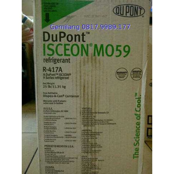 jual dupont isceon mo59 refrigerant / freon r417a dupont