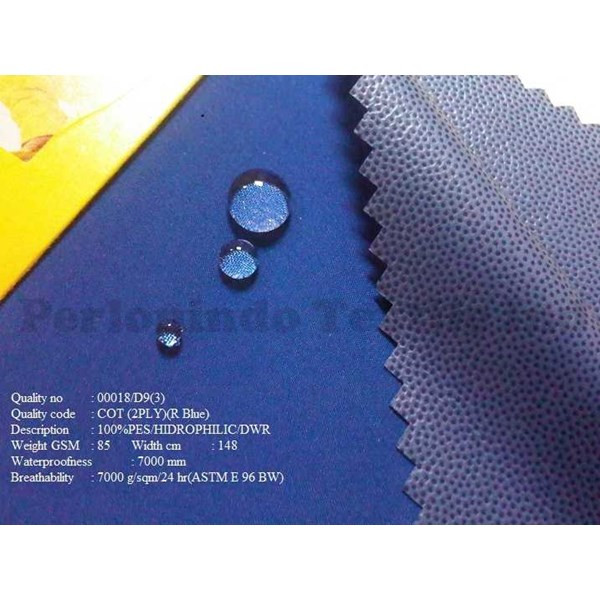 kain polyester waterproof / anti air