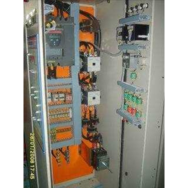 panel soft start untuk starter/ starting electric motor induksi 3 phase
