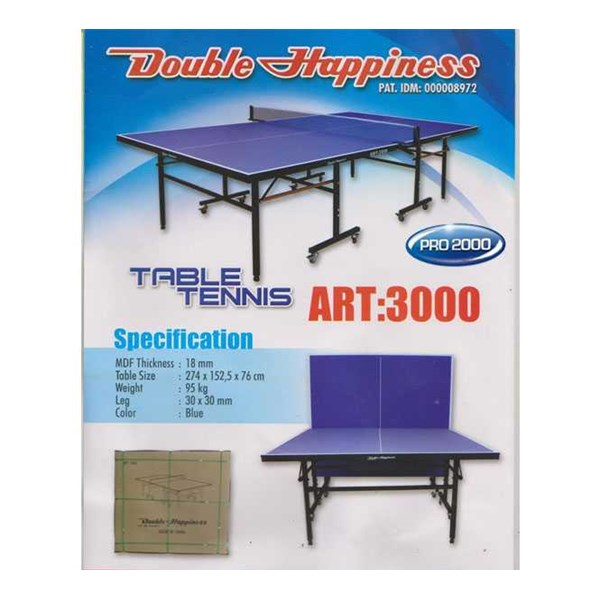 tenis meja ( dhs ) double happiness art 3000