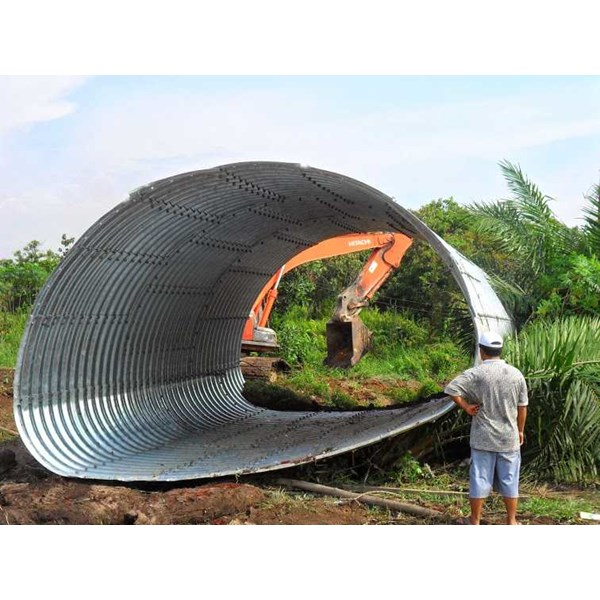 corrugated steel pipe armco multi plate pipe arches-5