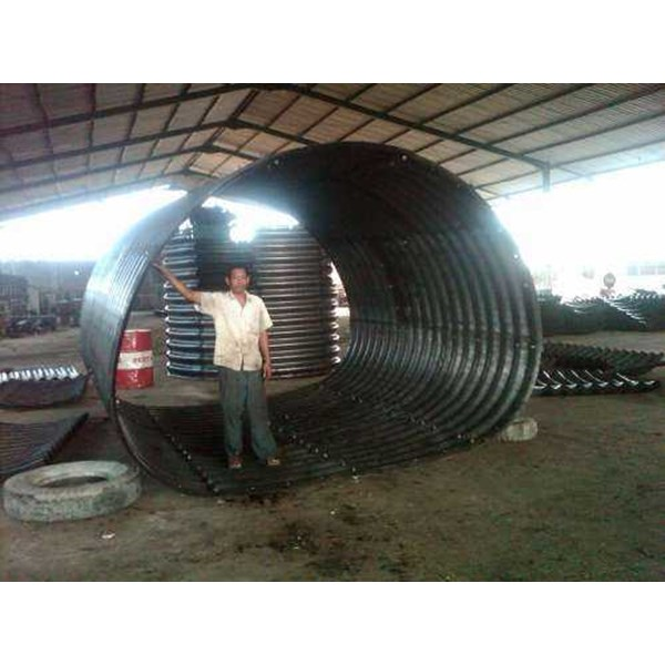 corrugated steel pipe armco multi plate pipe arches-6