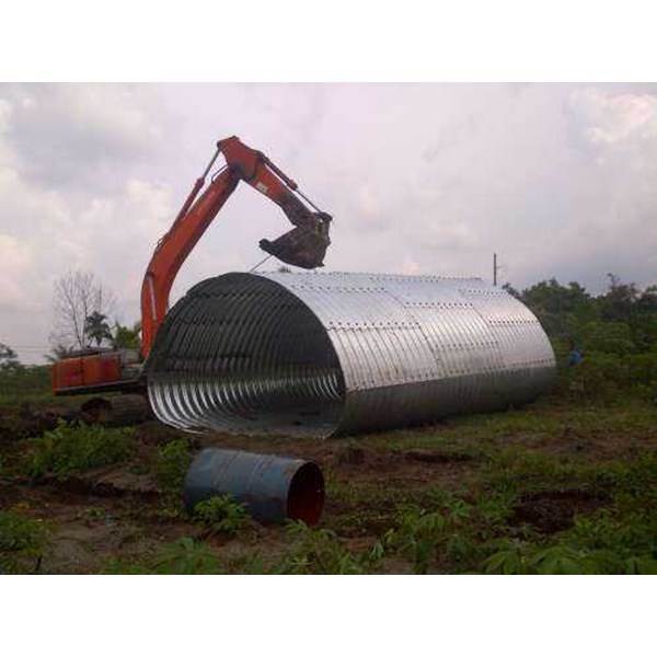 corrugated steel pipe armco multi plate pipe arches-7
