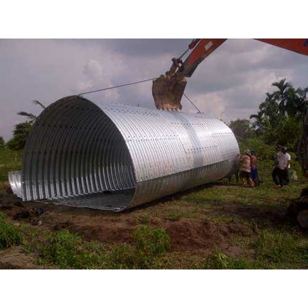 corrugated steel pipe armco multi plate pipe arches-3