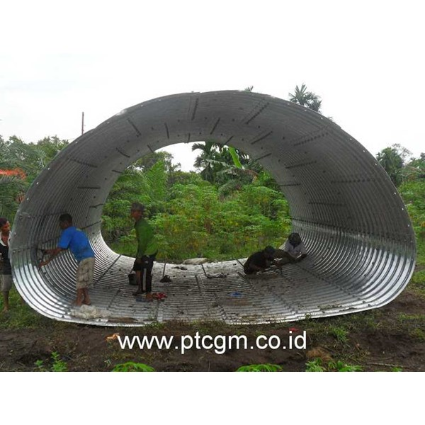 corrugated steel pipe armco multi plate pipe arches-4