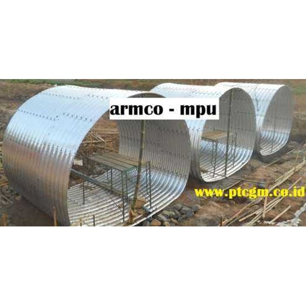 corrugated steel pipe multi plate underpass-5