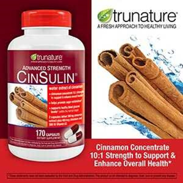 trunature advanced strength cinsulin, 170 capsules-3