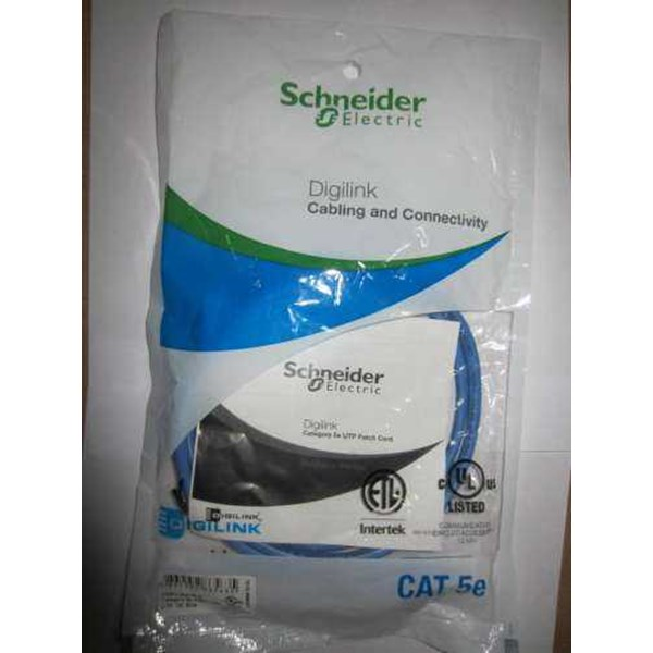 patch cord schneider cat 5, 2m biru