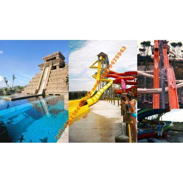 kontraktor waterpark freefall plus waterslide 2