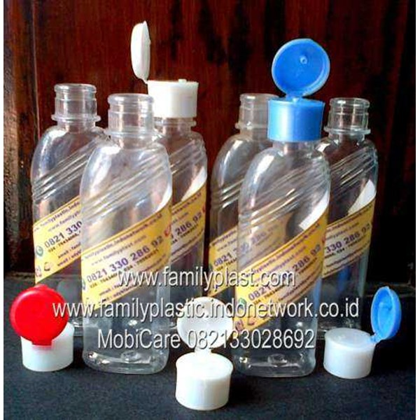botol pet le / flip top