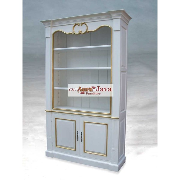 lemari buku aura java furniture french style arf7-m