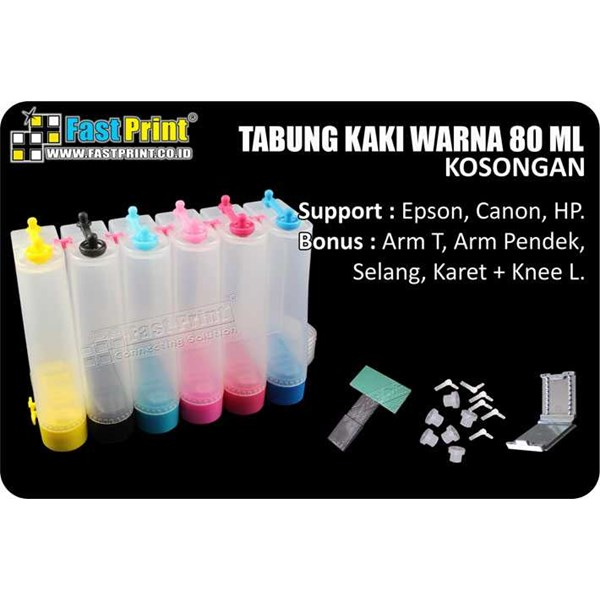 tabung ( ink tank) plastik 6 warna 80ml