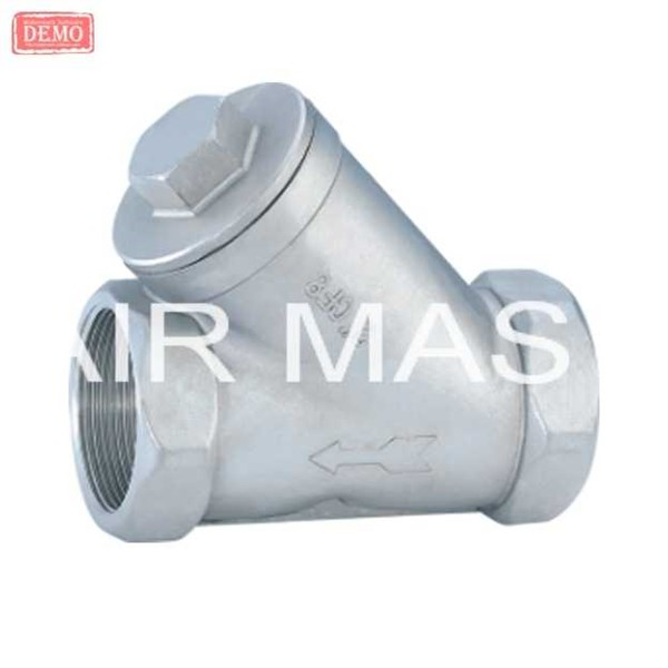 y strainer stainless steel screw end