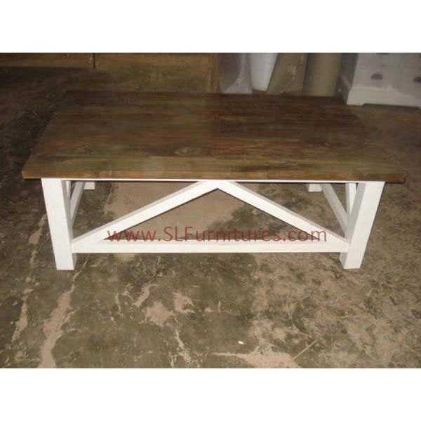 jual furniture antik jepara: meja kopi kombinasi whitewash ( whitewash coffee table)