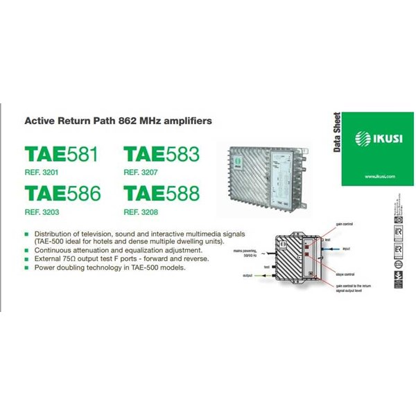 booster amplifier ikusi for network tae 500