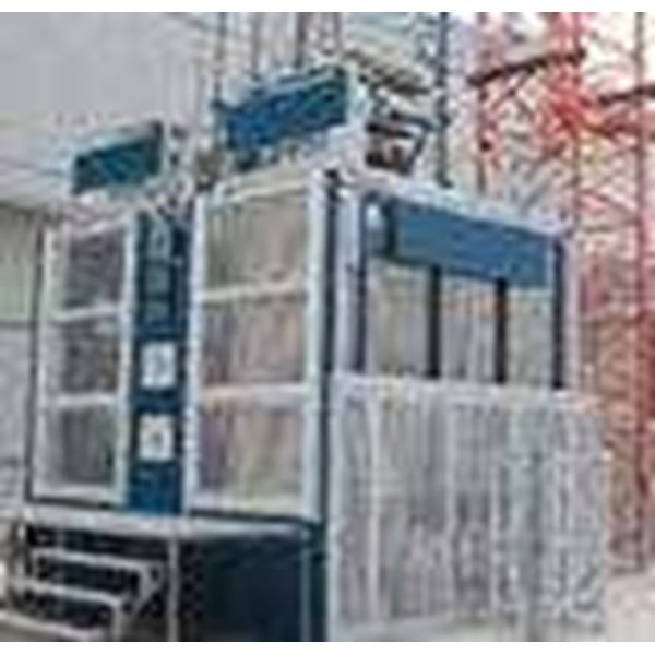 Jual 1000kg Safety Electric Construction Material Hoist