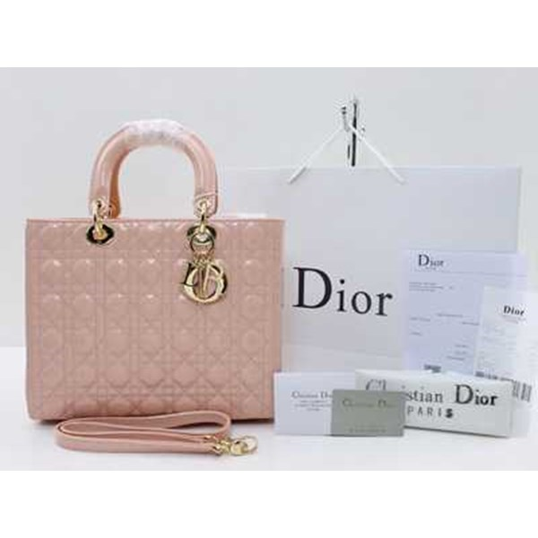 tas christian dior cannage large patent-2