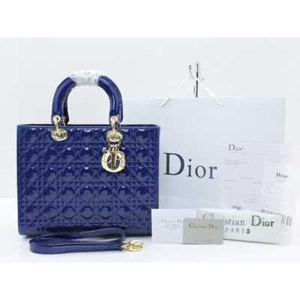 tas christian dior cannage large patent-3