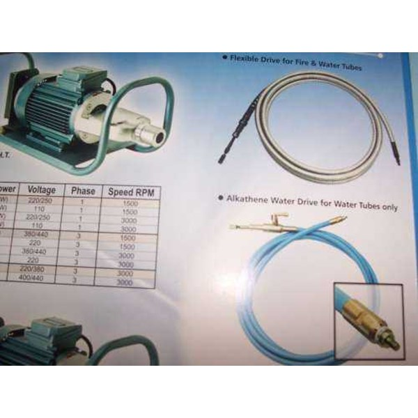 flexible drive, and tool head by rotatool, electric tubes cleaner-3
