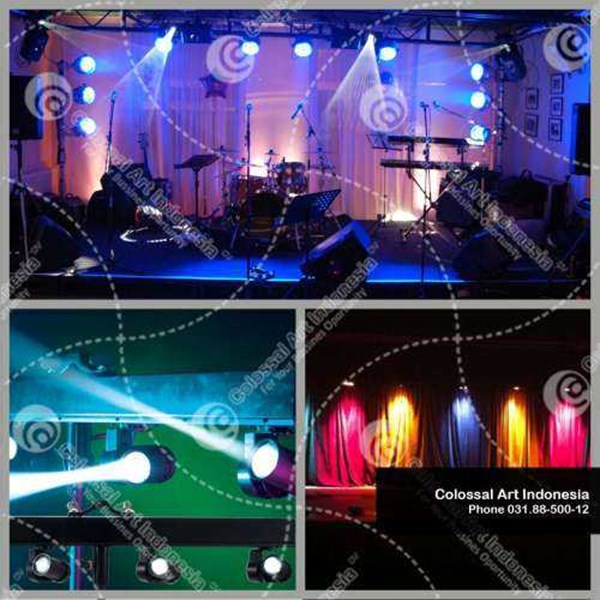 sewa lampu / lighting event murah di surabaya