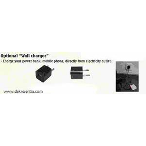 optional wall charger for corporate gift