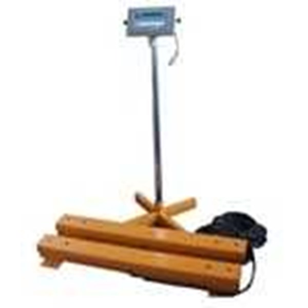 portable weighing beam for animal scale