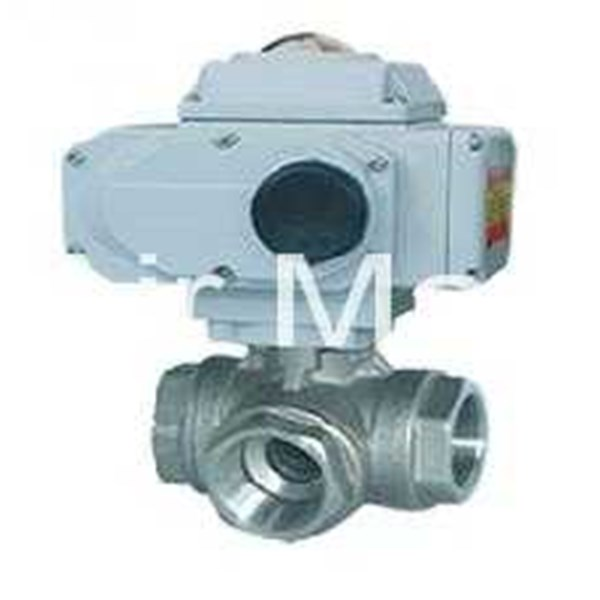 three way electrical thread ball valve