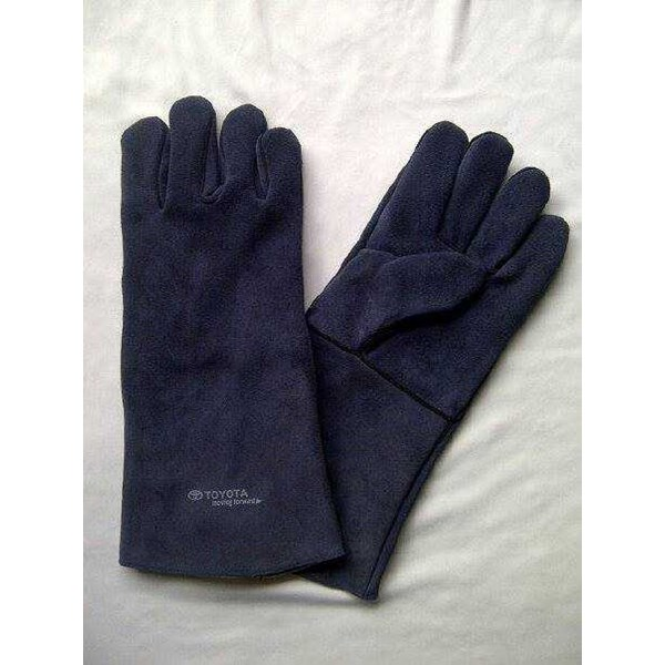 welding gloves 14 suede hight quality-3