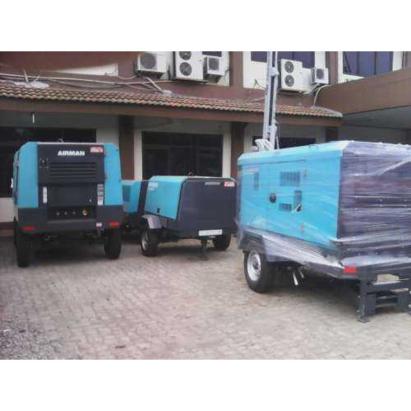 sewa - rental - jual - mesin air compressor diesel airman pdsf 125 - 185 - 390 cfm