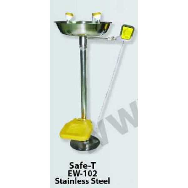 safe-t eye wash ew-102 stainless steel