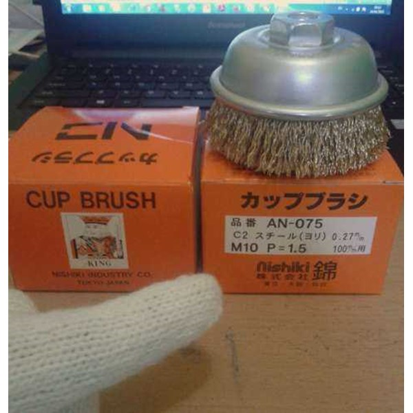 cup brush king an-075 m10 made in nishiki industry tokyo japan-2