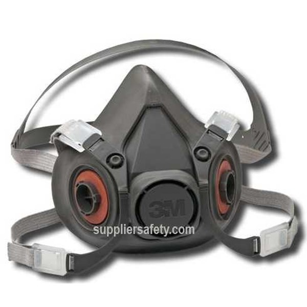 3m – 6200 double cartridge respiratory protection, masker 3m