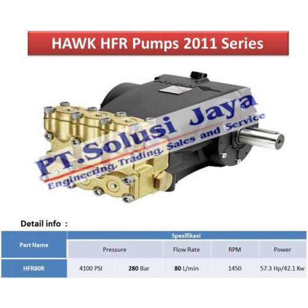 pompa plunger water jet 280 bar - hawk made in italy-2