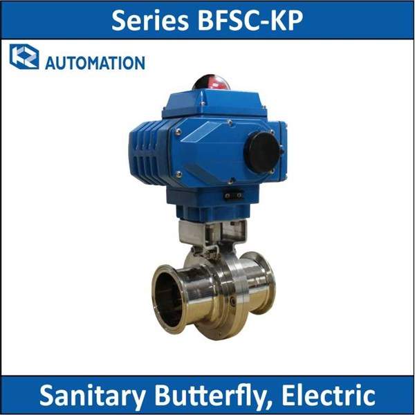 kz automation - series bfsc-kp - sanitary butterfly, electric