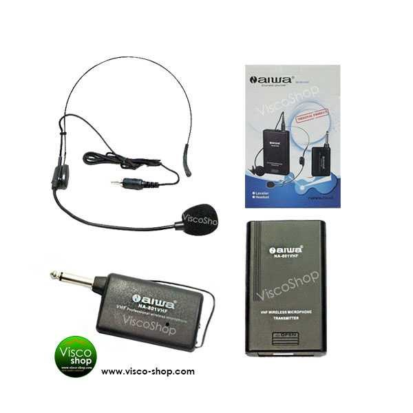 n-aiwa na 8012 htl - vhf headset microphone wireless