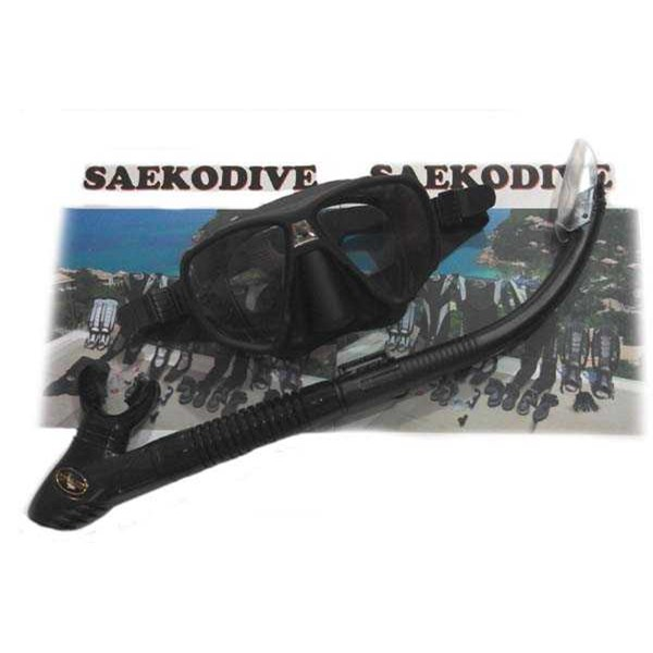 snorkeling set black saekodive ( diving mask + semi-dry snorkel)